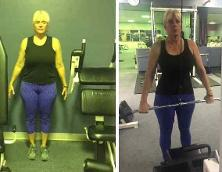 Virtual fitness, Michele lost 60 pounds in 3 weeks transformation program