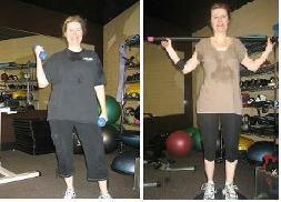 virtual fitness weight-loss, Shirley lost 65 pounds