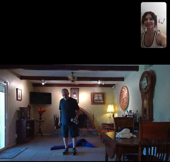 virtail personal training with Jerry, senior fitness virtual training